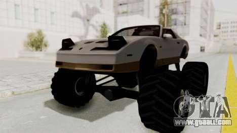 Pontiac Firebird Trans Am Monster Truck 1982 for GTA San Andreas back left view
