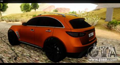 Infiniti FX37 for GTA San Andreas left view