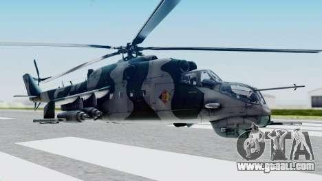 Mi-24V GDR Air Force 45 for GTA San Andreas