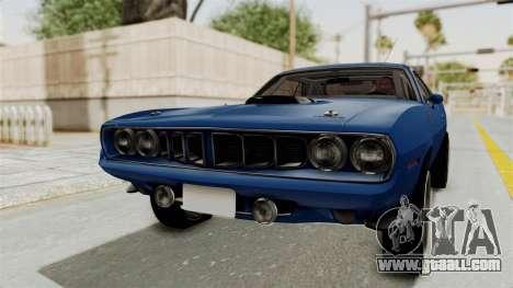 Plymouth Hemi Cuda 1971 Drag for GTA San Andreas