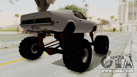 Ford Mustang 1971 Monster Truck for GTA San Andreas back left view