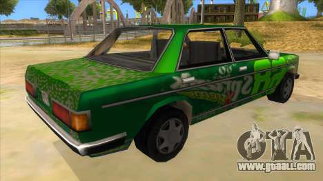 Sprunk Admiral for GTA San Andreas right view