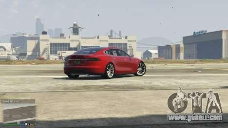 GTA 5 Tesla Model S back view