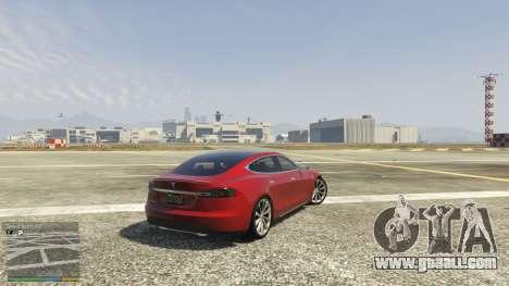 GTA 5 Tesla Model S rear right side view