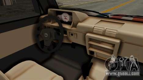 Toyota Kijang Miku Itasha Version for GTA San Andreas inner view
