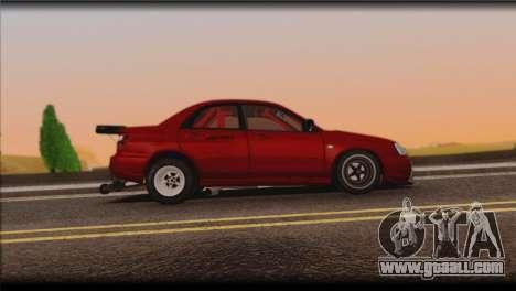 Subaru Impreza STi Drag Racing Unlim 500 for GTA San Andreas back view