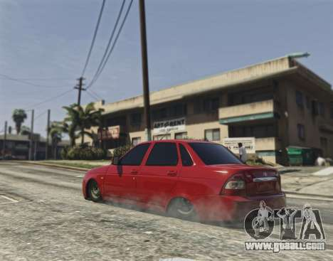 GTA 5 Lada Priora VAZ 2170 rear left side view