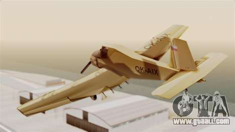 Z-37 Cmelak for GTA San Andreas left view