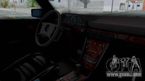 Mercedes-Benz 560SEL 1987 US-spec for GTA San Andreas right view