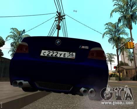BMW M5 E60 v1.0 for GTA San Andreas right view
