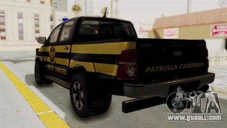 Toyota Hilux 2015 Patrulla Caminera Paraguaya for GTA San Andreas left view
