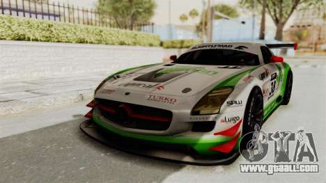 Mercedes-Benz SLS AMG GT3 PJ4 for GTA San Andreas back view