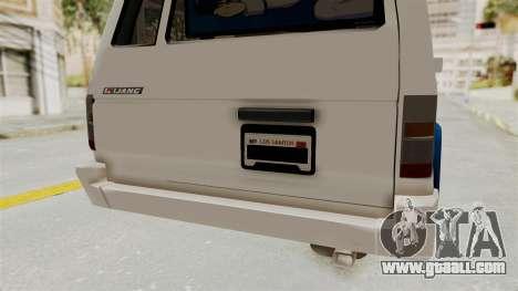 Toyota Kijang Miku Itasha Version for GTA San Andreas bottom view