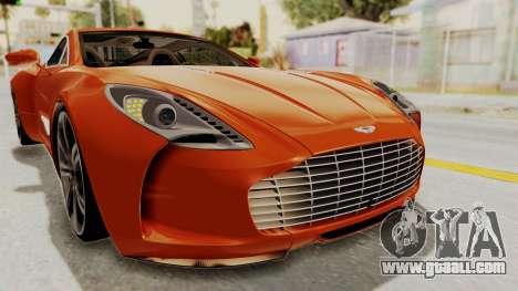 Aston Martin One-77 2010 Autovista Interior for GTA San Andreas upper view