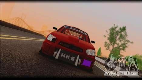 Subaru Impreza STi Drag Racing Unlim 500 for GTA San Andreas left view