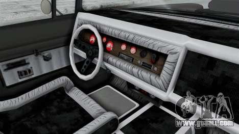 GTA 5 Declasse Tornado Hifi and Hydro IVF for GTA San Andreas inner view
