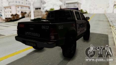 Toyota Hilux 4WD 2015 Georgia Police for GTA San Andreas back left view