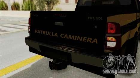 Toyota Hilux 2015 Patrulla Caminera Paraguaya for GTA San Andreas inner view