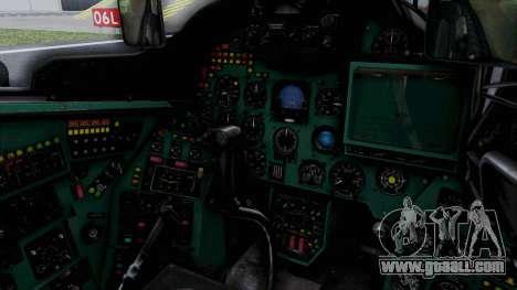 Mi-24V Soviet Air Force 0835 for GTA San Andreas inner view