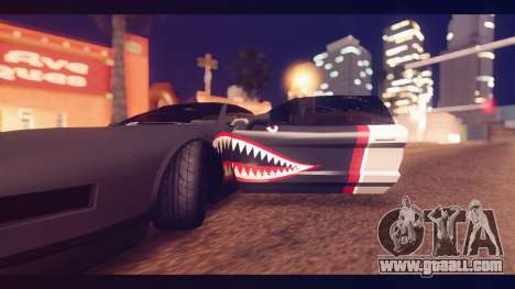 Infernus Shark Edition by ZveR v1 for GTA San Andreas back view