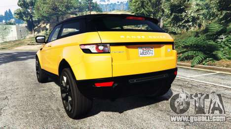 GTA 5 Range Rover Evoque rear left side view