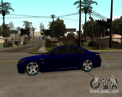 BMW M5 E60 v1.0 for GTA San Andreas back view