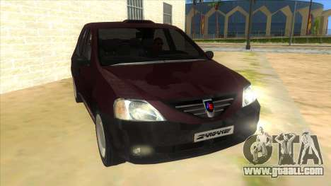 Dacia Logan Sport for GTA San Andreas back view