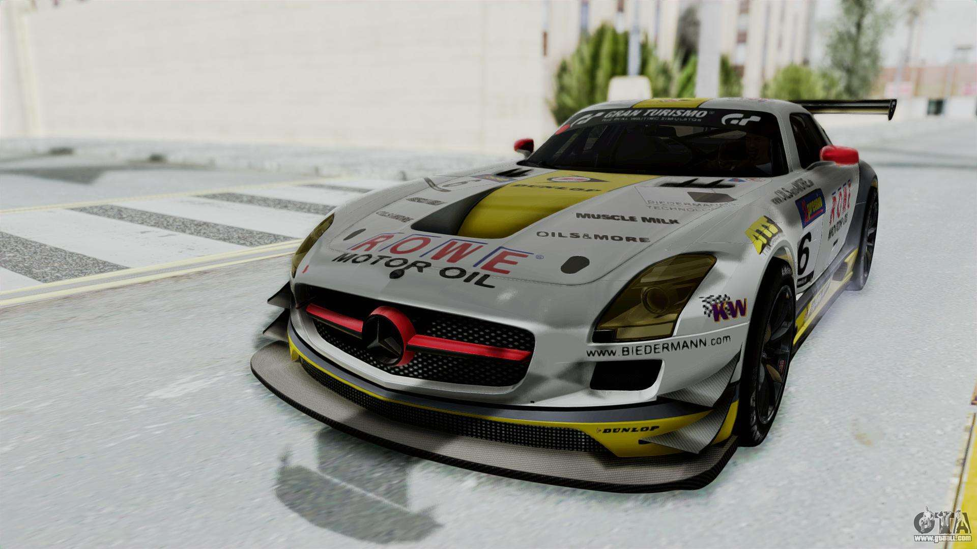 mercedes benz sls amg gt3 pj7 for gta san andreas. Black Bedroom Furniture Sets. Home Design Ideas