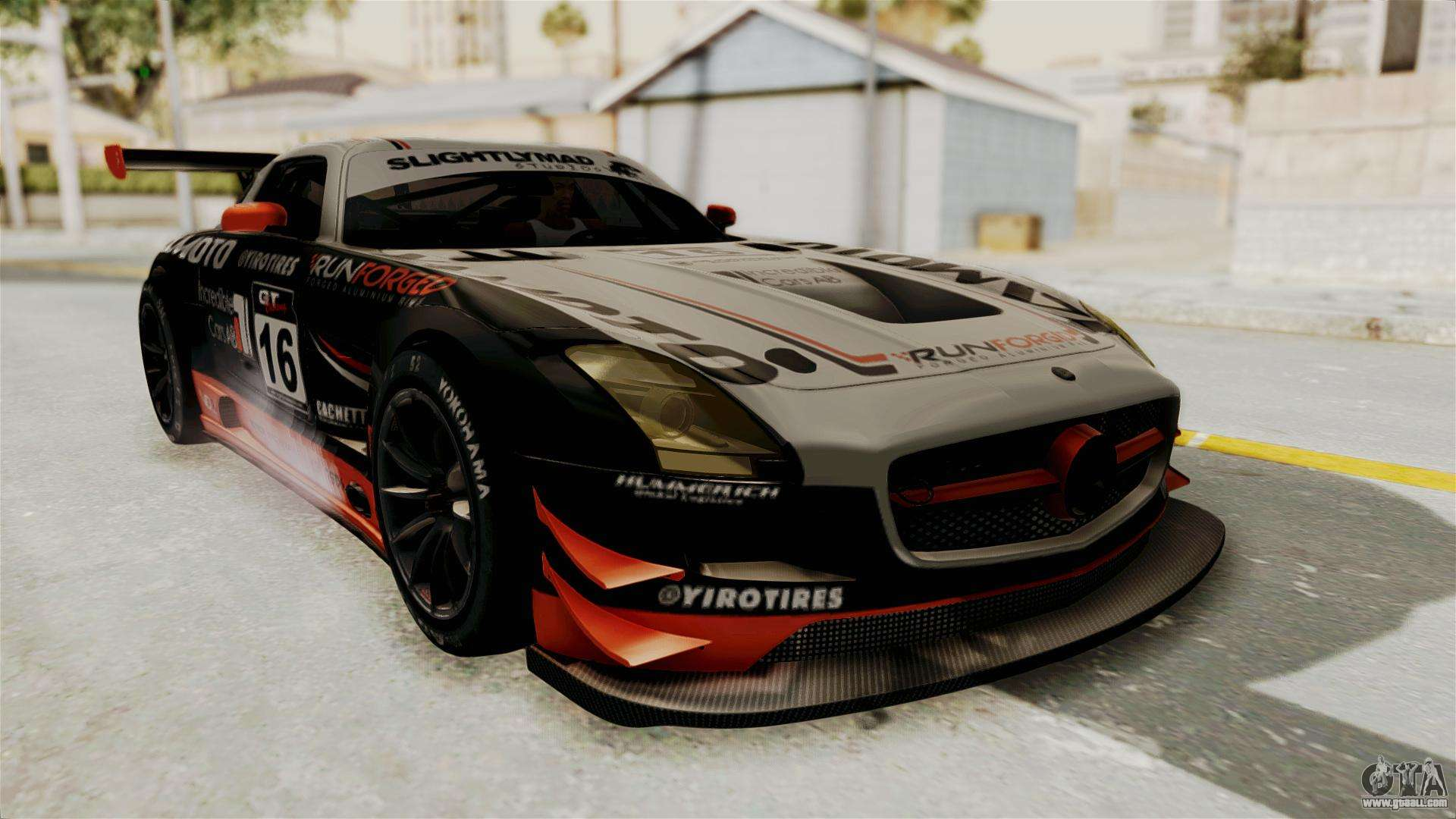 mercedes benz sls amg gt3 pj2 for gta san andreas. Black Bedroom Furniture Sets. Home Design Ideas