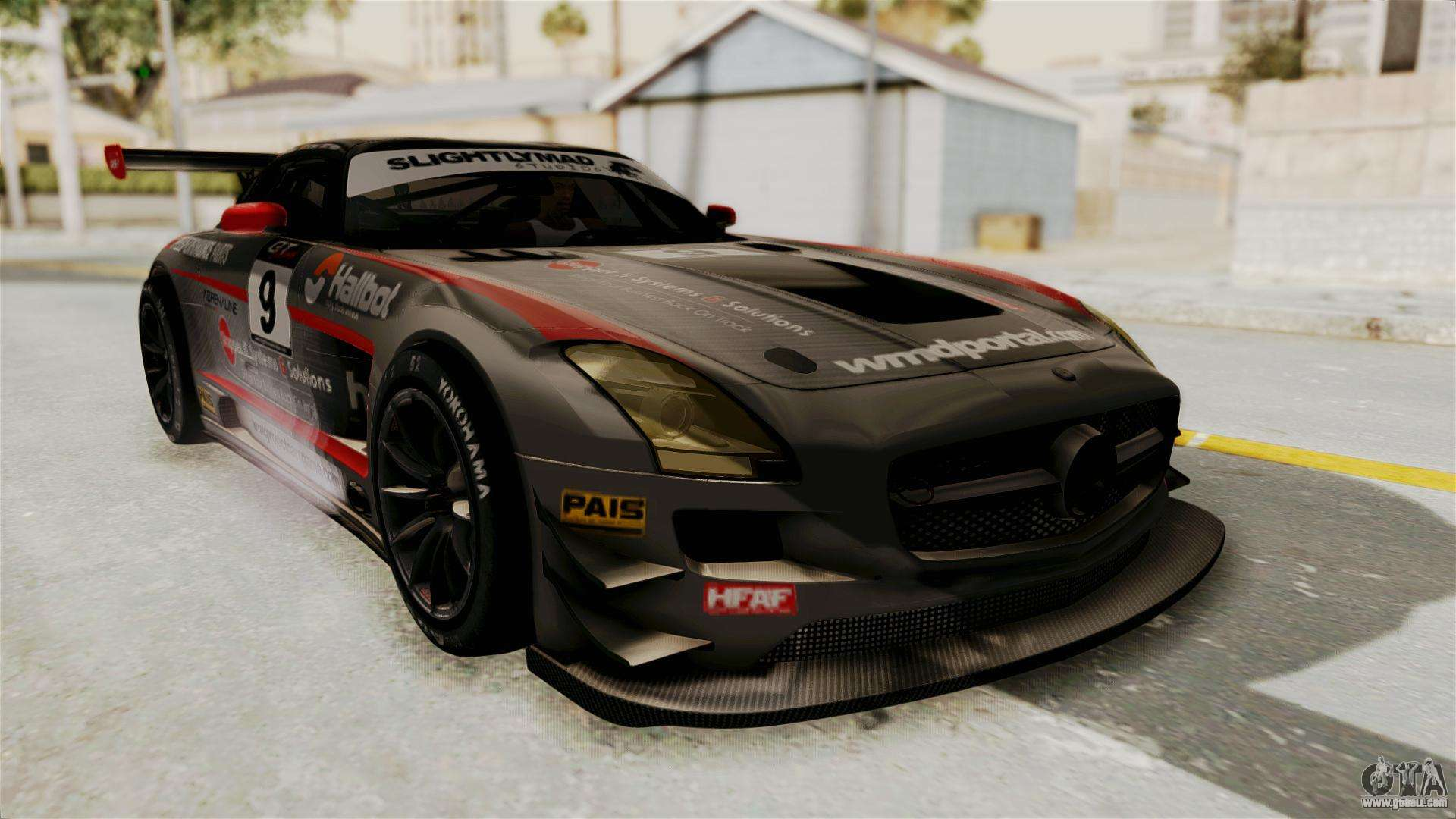 Mercedes benz sls amg gt3 pj2 for gta san andreas for Mercedes benz gt3