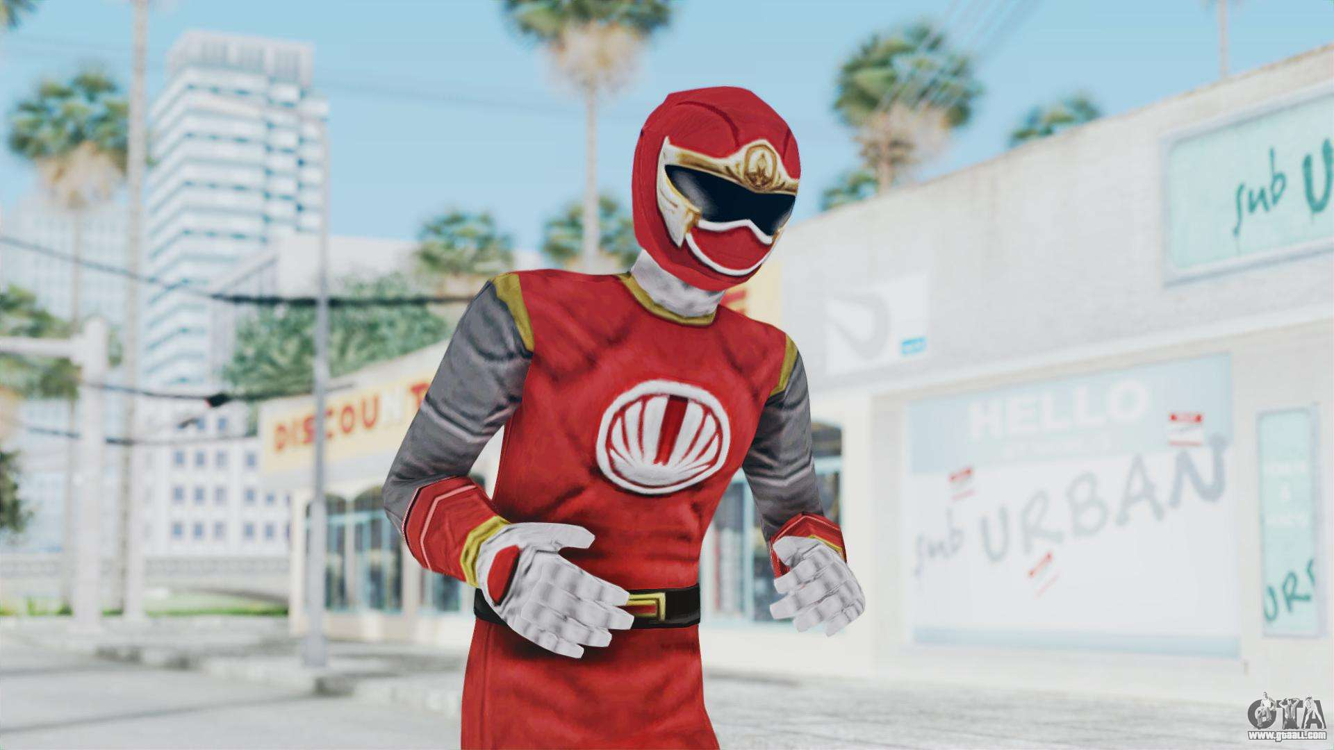 & Power Rangers Ninja Storm - Red for GTA San Andreas