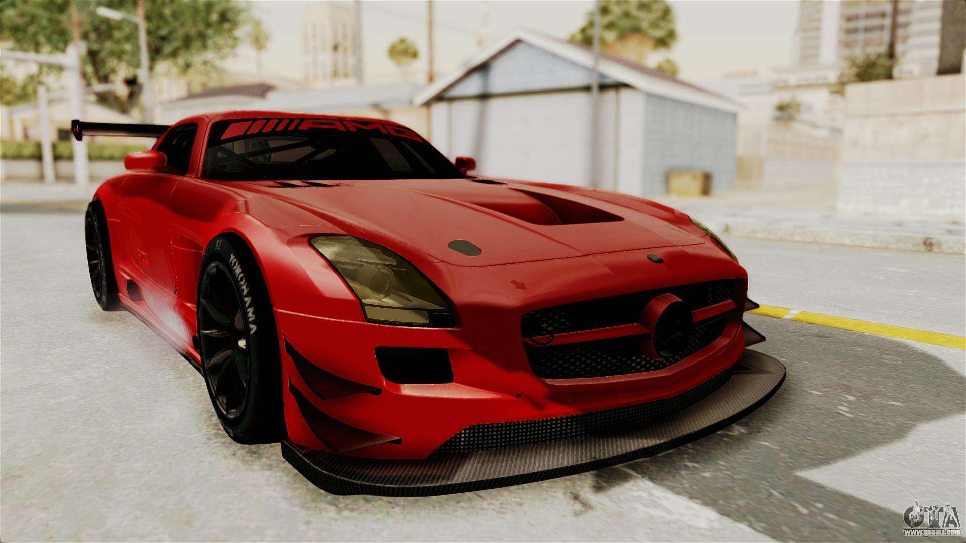 Mercedes-Benz SLS AMG GT3 PJ2 for GTA San Andreas on sports car most wanted, dodge viper most wanted, bmw m3 e92 most wanted,