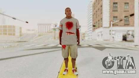 GTA 5 Franklin Zombie Skin for GTA San Andreas second screenshot