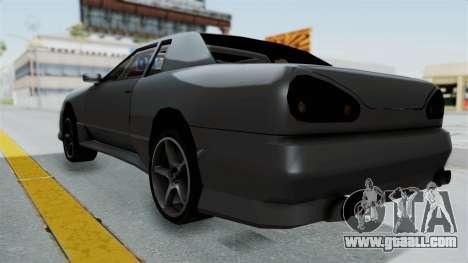 Elegy v2 for GTA San Andreas back left view