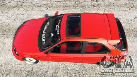 GTA 5 Honda Civic back view