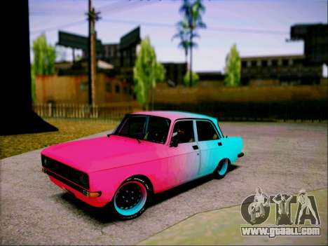 Moskvich Sport for GTA San Andreas back left view