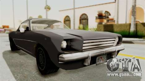 Dominator Classic for GTA San Andreas right view