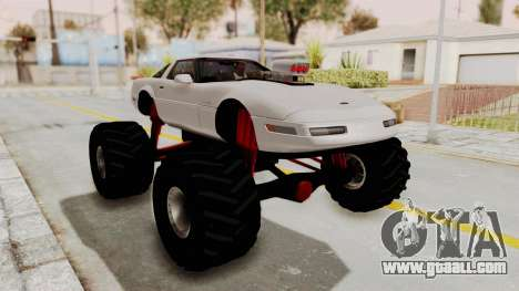 Chevrolet Corvette C4 Monster Truck for GTA San Andreas left view