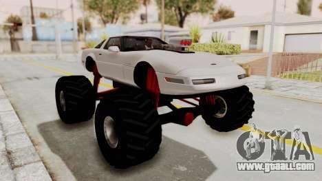 Chevrolet Corvette C4 Monster Truck for GTA San Andreas left view
