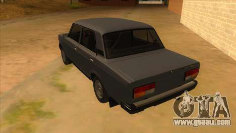 VAZ 2107 RUSSIA for GTA San Andreas back left view