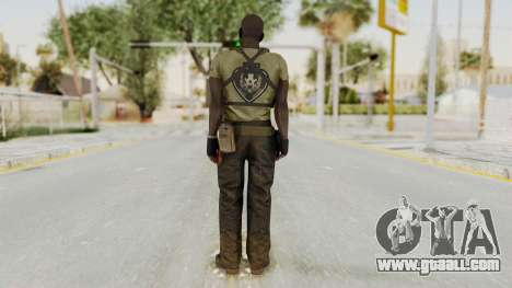 MGSV Phantom Pain RC Soldier T-shirt v2 for GTA San Andreas third screenshot