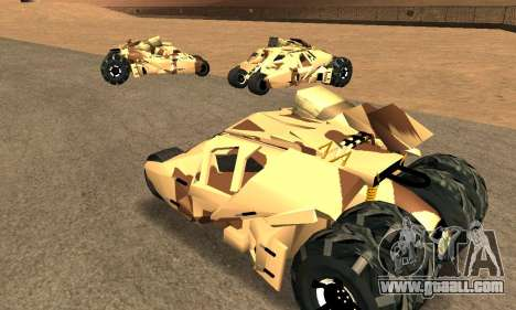 Army Tumbler Rocket Launcher from TDKR for GTA San Andreas inner view