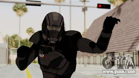 Mass Effect 2 Shepard Default N7 Armor Helmet for GTA San Andreas