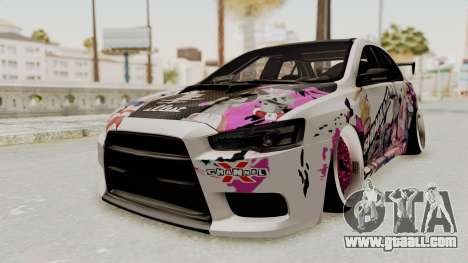 Mitsubishi Lancer Evo X Shimakaze Kai Itasha for GTA San Andreas right view