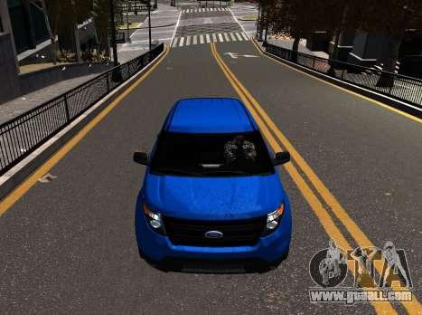 Ford Explorer 2013 for GTA 4 back left view