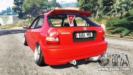 GTA 5 Honda Civic rear left side view