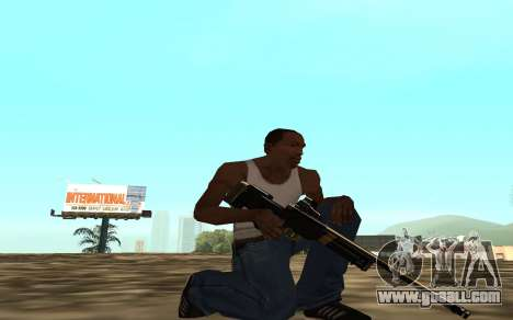 Golden weapon pack for GTA San Andreas seventh screenshot