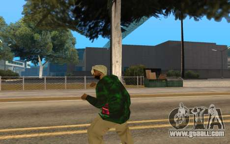 Grove Street Gang Member for GTA San Andreas third screenshot