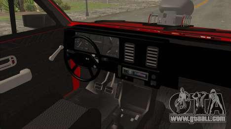 Chevrolet Chevette SL 1988 Monster Truck for GTA San Andreas side view