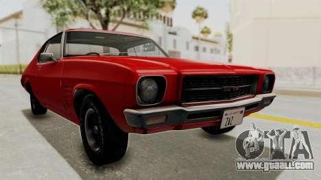 Holden Monaro GTS 1971 SA Plate HQLM for GTA San Andreas back left view